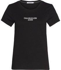 t-shirt institutional zwart