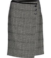 skirt short woven fa knälång kjol grå gerry weber