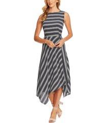 vince camuto asymmetrical striped dress