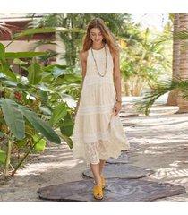 sundance catalog women's dreamers believe dress in hibiscus xl
