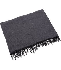 native yoga solid color woven blanket gray cotton
