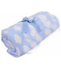 cobertor 0,90x1,10m alvinha ref.5940 / 5941 - minasrey-azul