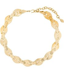 givenchy pre-owned 1990s scales motif short necklace - gold