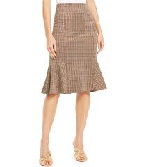 ny collection petite plaid peplum skirt