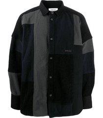 ambush black wool blend shirt