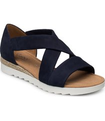 sandals shoes summer shoes flat sandals blå gabor