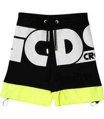 gcds mini black sports shorts