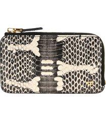 tom ford snakeskin print zipped wallet