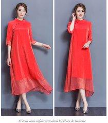pf204 sexy loss style long dress, wedding silk ,size s-2xl, red