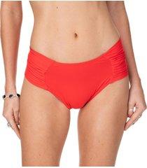 calcinha lateral franzida comfort vermelho-gg - tricae