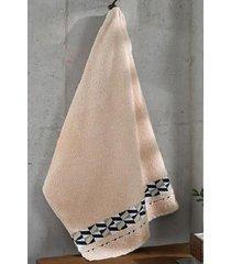 toalha de rosto dohler, premium bege - fj6383