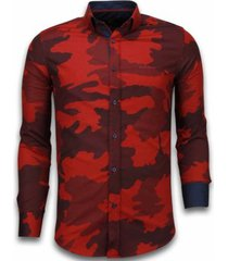 overhemd lange mouw tony backer blouse classic army pattern