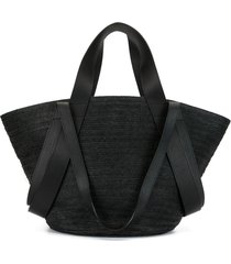 discord yohji yamamoto braided tote bag - black