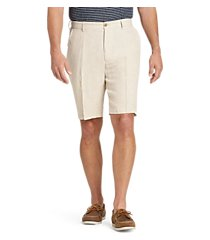 reserve collection traditional fit linen flat front shorts clearance by jos. a. bank