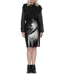 walter baker women's molli leather skirt - black - size 2