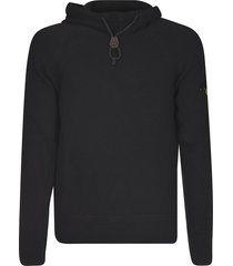 stone island ribbed logo hoodie