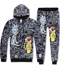 2017 sweatshirt hoodies trousers men women cool creative 3d print rick morty fas