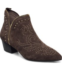 boot 4,5 cm shoes boots ankle boots ankle boot - heel brun sofie schnoor