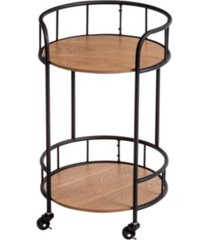 honey can do 2-tier round side table with wheels