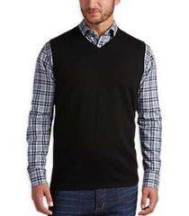 joseph abboud black v-neck modern fit sweater vest
