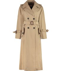 weekend max mara macbeth cotton trench coat