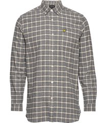 check flannel shirt overhemd casual grijs lyle & scott