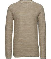 reiswood 2.0 gebreide trui met ronde kraag beige minimum