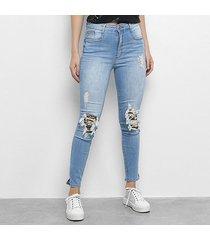 calça jeans my favorite thing (s) second skin feminina
