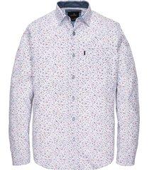 long sleeve shirt print on structu bright white
