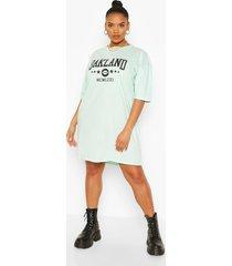 plus oakland drop armhole t-shirt dress, mint