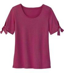 shirt uit bio-katoen, bessenrood 44