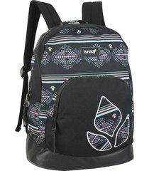mochila sublimada rectangular negra reef canvas