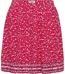 tjw embroidery detail skirt kort kjol röd tommy jeans