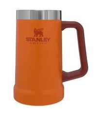 caneca térmica de cerveja stanley beer stein 710ml - laranja