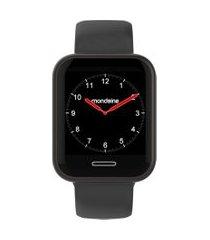 relógio smartwatch mondaine masculino - 41001mpmvpi3 preto