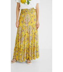 long bell skirt paisley - yellow - xl