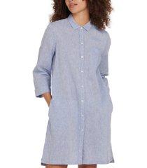 barbour seaglow button-down chambray dress