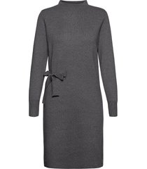 bernice knit dress jurk knielengte grijs minus
