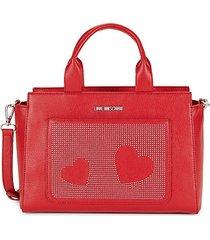 borsa faux leather satchel