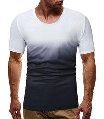 hombres verano algodón suave cómodo al aire libre ombre camiseta