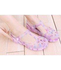 sandalias de plataforma gruesa antideslizante para mujer-violeta