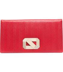 missoni oversized leather clutch bag - red