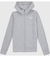 buzo gris-blanco puma modern sport fz