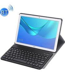 teclado bluetooth desmontable ultrafinos funda de cuero flip horizontal para huawei mediapad m5 10,8 pulgadas, con el titular (negro)