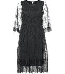 crbodil dress knälång klänning svart cream