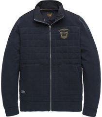 pme legend psw198445 9077 zip jacket rib terry total eclipse blauw