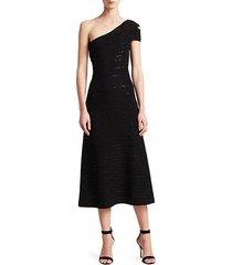 adrianna knit one shoulder dress