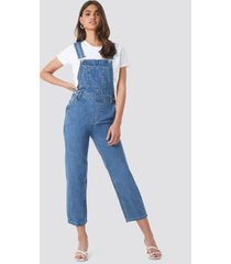 na-kd trend denim dungaree - blue