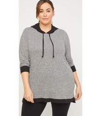 comfysoft striped hooded tunic
