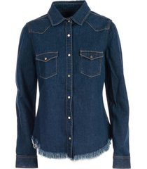 marquesalmeida frayed denim shirt